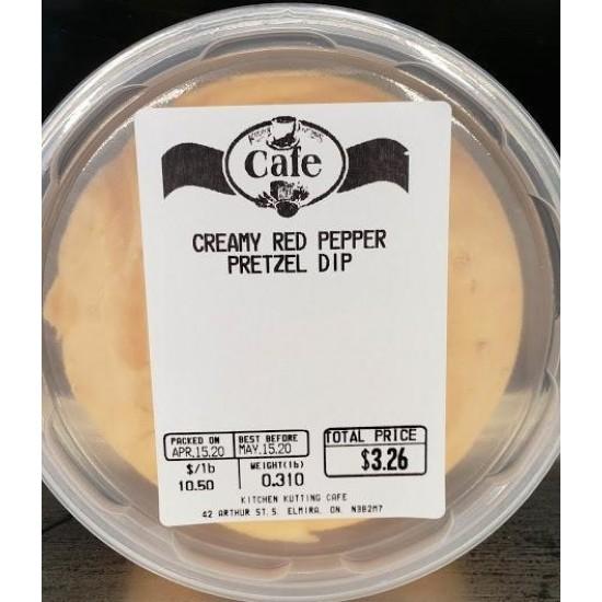 Creamy Red Pepper Pretzel Dip