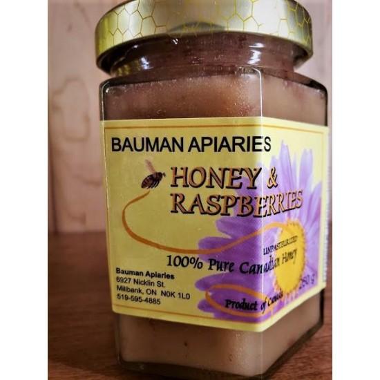Local Honey with Raspberries